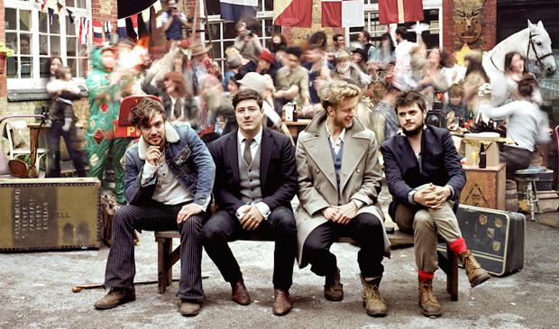 English folk-rockers Mumford & Sons got six Grammy nominations, including Album of the Year for 'Babel.'