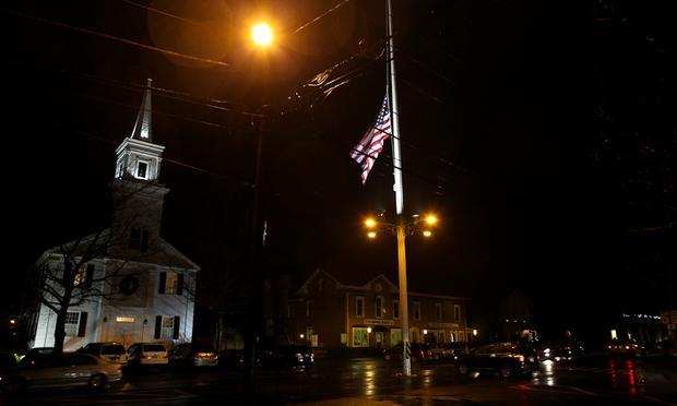 The Newtown, Conn., town hall, near the Sandy Hook Elementary School.