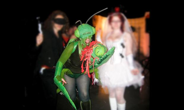 Preying mantis Halloween costume