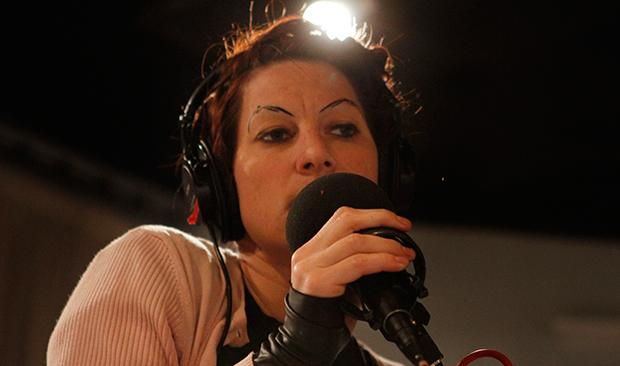 Amanda Palmer performing in the Soundcheck studio.