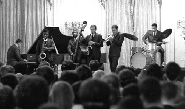 The Paul Winter Sextet performs in the East Room of the White House on Nov. 19, 1962.