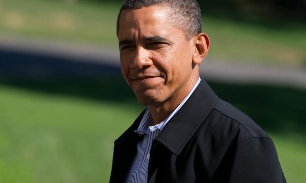 US President Barack Obama on the South Lawn of the White House in Washington on September 5, 2010