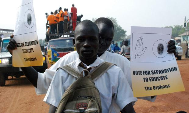 Southern Sudanese rally on the streets of the southern capital, Juba, on December 9, 2010, in advance of a landmark