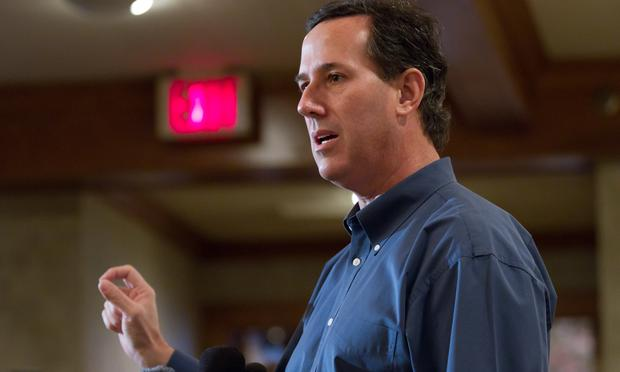 Republican Presidential candidate, former U.S. Sen. Rick Santorum speaks at a Rotary Club breakfast in Manchester New Hampshire on January 05, 2012 in Manchester, New Hampshire. Santorum continued his