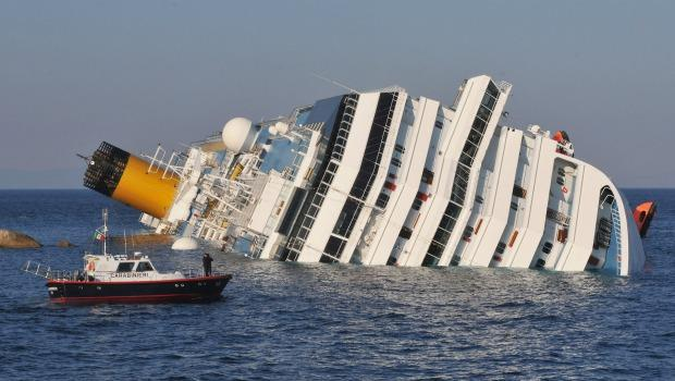 The cruise ship Costa Concordia lies stricken off the shore of the island of Giglio, on January 14, 201