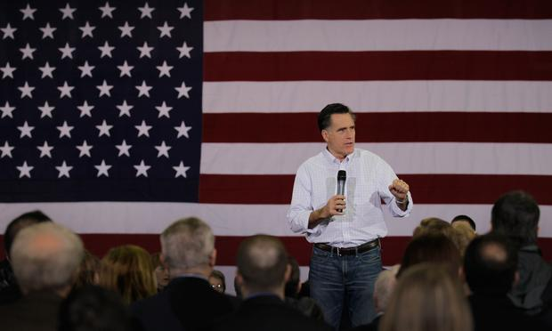 Republican presidential candidate and former Massachusetts Gov. Mitt Romney speaks during a campaign rally on January 17, 2012 in Florence, South Carolina.