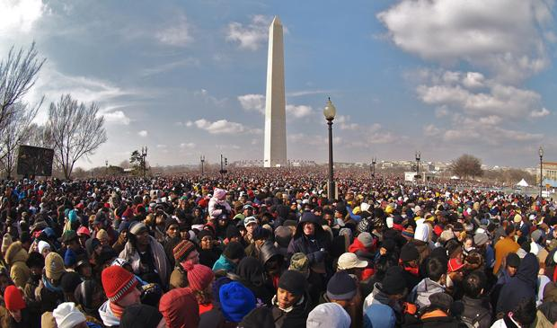The Washington Monument on Inauguration Day, 2009