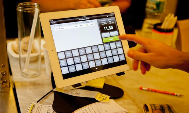 The iPad cash register at Ample Hills Creamery in Prospect Heights, Brooklyn