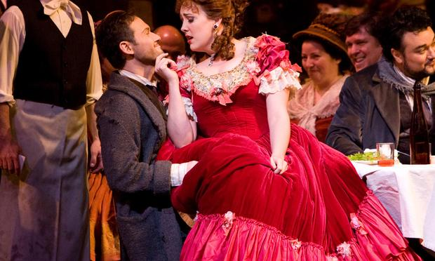 Mariusz Kwiecen and Susanna Phillips in La Bohème.