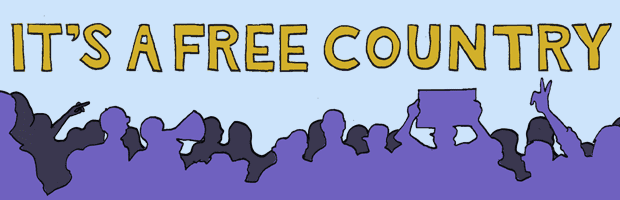 It's A Free Country Banner Logo