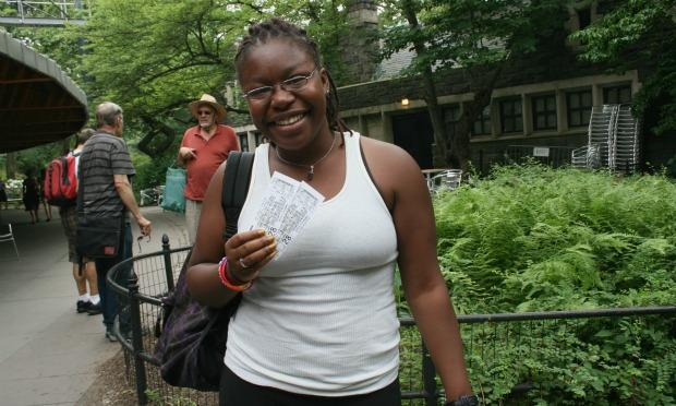 Isake Smith was first in line for tickets. At 22, Smith has been going to Shakespeare in the Park each year for nearly half of her life.