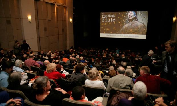 Audiences at a 2006 HD Screening for 'The Magic Flute' in Manhattan