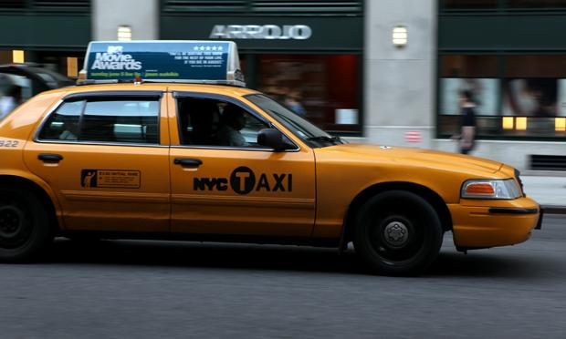 New  York City yellow taxi, cab,