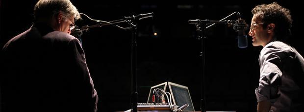 Jad and Robert on stage