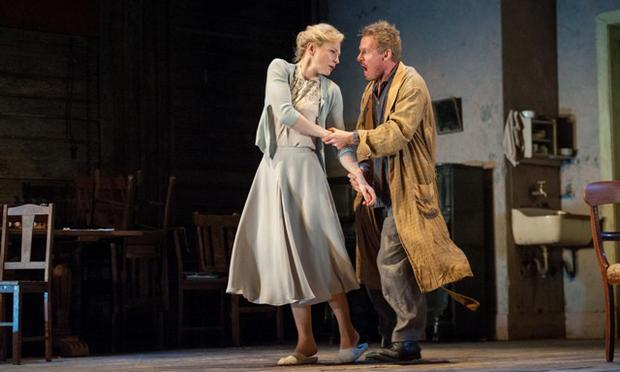 Cate Blanchett and Richard Roxburgh as Yelena and Vanya in the Sydney Theatre Company production at City Center.