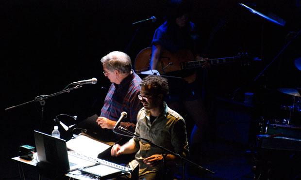 Robert Krulwich and Jad Abumrad on stage for Radiolab Live: In the Dark