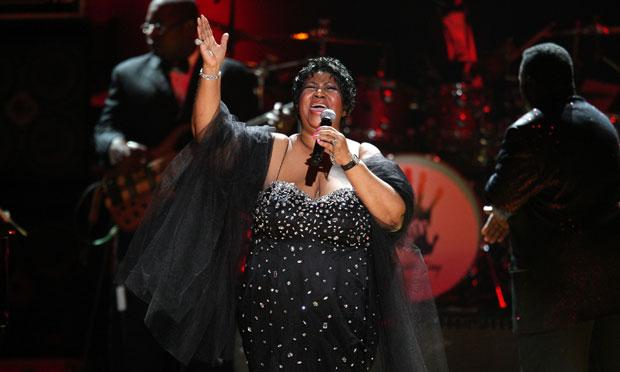 Aretha Franklin performs during the Mandela Day Celebration Concert at Radio City Music Hall on July 18, 2009.