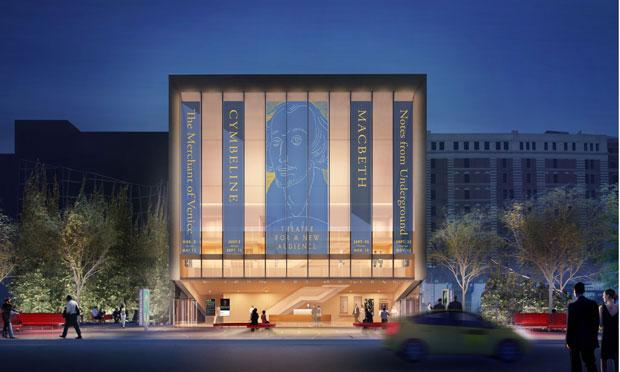 The architectural rendering for BAM's Theatre for a New Audience.