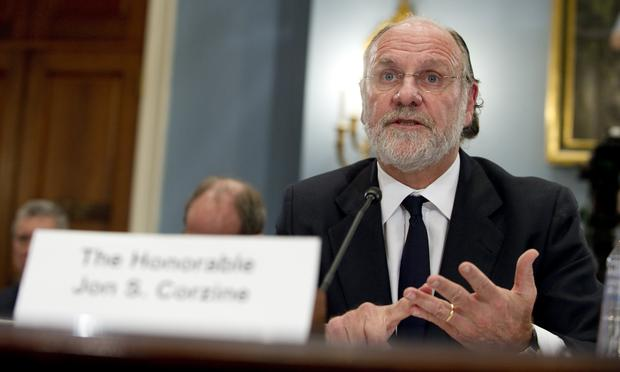 Jon Corzine, former CEO of MF Global, testifies before the House Agriculture Committee about the company's bankruptcy of MF Global on Capitol Hill in Washington on December 8, 2011.