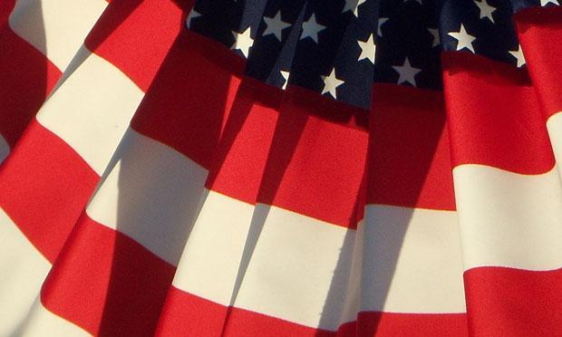 An American flag.