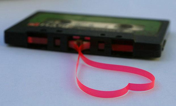 Cassette tape heart