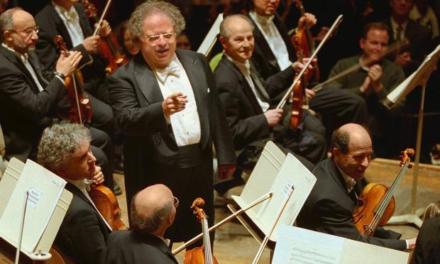 James Levine with the Boston Symphony Orchestra