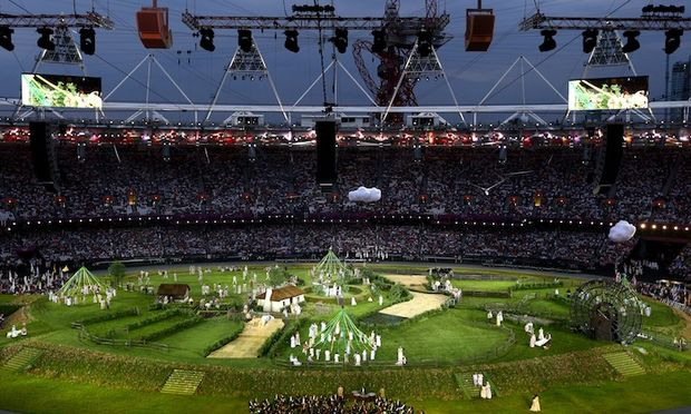 The London Symphony Orchestra performs during the Opening Ceremony of the London 2012 Olympic Games
