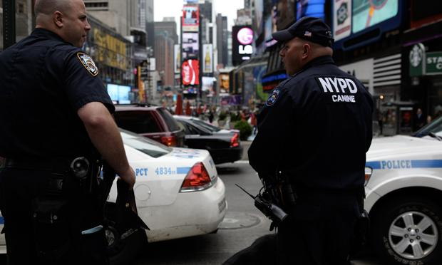 NYPD in Times Square following the killing of Osama bin Laden