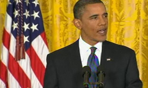 President Obama speaking at the White House on Friday, September 10, 2010
