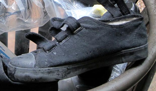 Inmates are issued shoes known as Pataki's (Kathleen Horan/WNYC