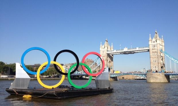 olympic rings, thames