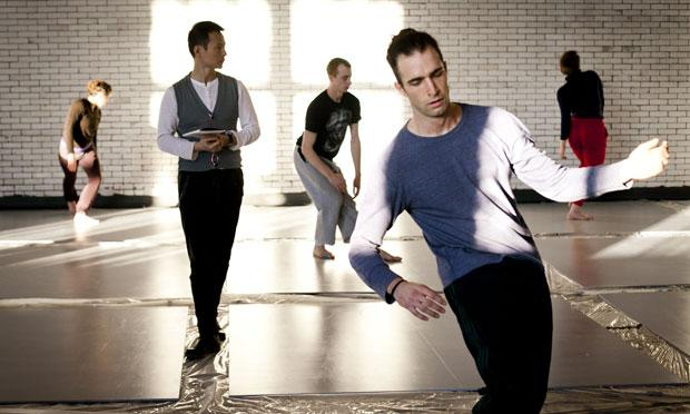 Shen Wei in rehearsal for 'Undivided Divided' with members of Shen Wei Dance Arts.