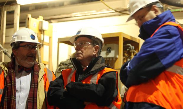 Michael Horodniceanu, head of the MTA capital construction company (left), Mayor Bloomberg (center), and Jay Walder, Chairman of the MTA.