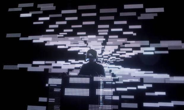 Squarepusher's innovative lighting and distinctive helmet is the perfect companion to his dense electronic dance music.