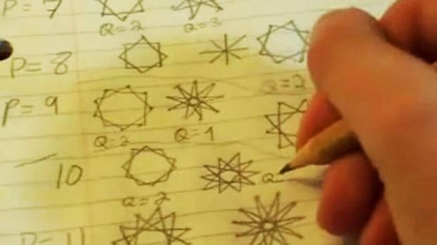 A frame from 'Doodling in Math Class: Stars'