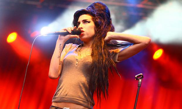 The late British singer Amy Winehouse.