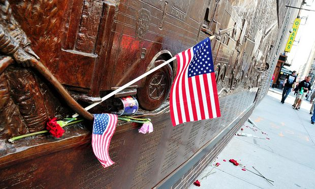 Tributes left at the World Trade Center site after Osama bin Laden was killed.