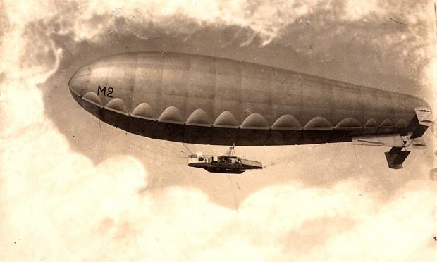 'City of Ferrara' Airship. The original picture, by Carlo Burzagli, is dated 1914.