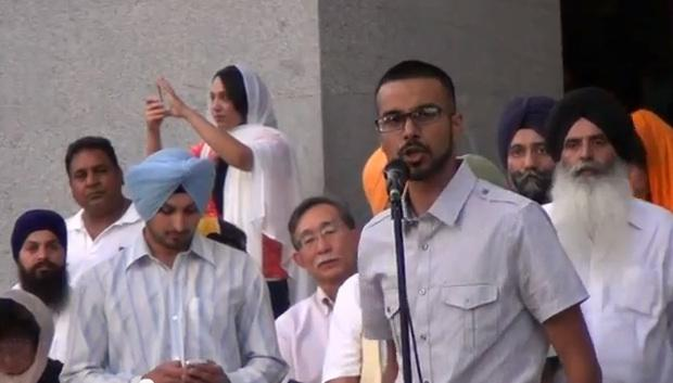 Zaki Syed performs his tribute to the Sikh temple shooting victims.