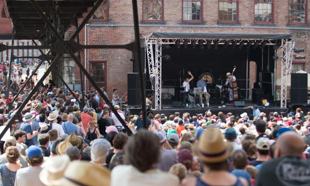 Radiolab performs live at the Solid Sound Festival