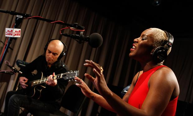 Liv Warfield performs in the Soundcheck studio.