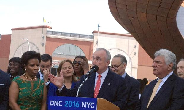 NYPD Commissioner Bill Bratton boosts Brooklyn for the 2016 Democratic National Convention.