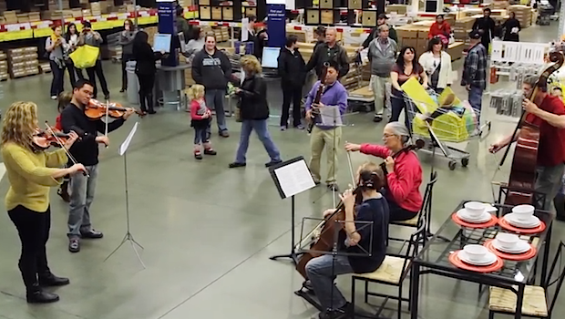 Video Ikea Shoppers Surprised By Beethoven Flash Mob Wqxr