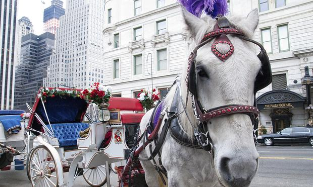 Mayor de Blasio wants to ban the use of horse-drawn carriages in Central Park by the end of the year.