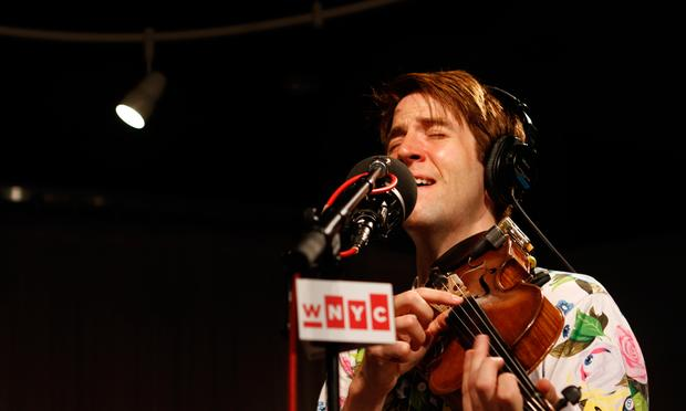Owen Pallett performs in the Soundcheck studio.