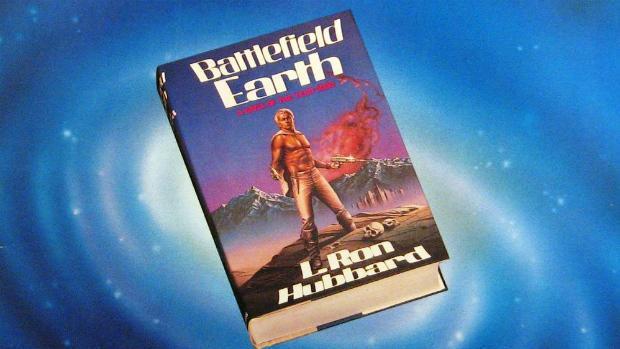 The cover of L. Ron Hubbard's 1982 album 'Space Jazz,' the soundtrack to his book 'Battlefield Earth'