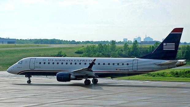 A US Airways Express Jet at Nashville International Airport