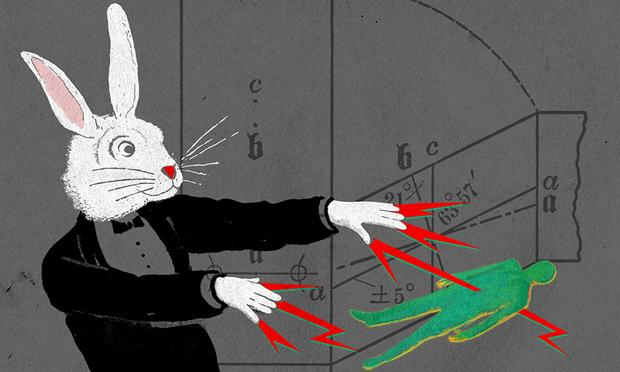 Illustration of a coma-zapping bunny