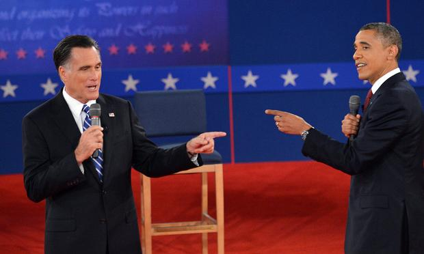 US President Barack Obama and Republican Presidential nominee Mitt Romney deb