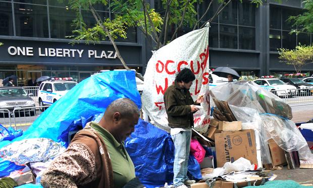 Occupy Wall Street protesters at Zuccotti Park